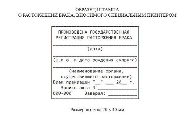 Штампы в паспортах о разводах: где и как поставить печать после решения суда